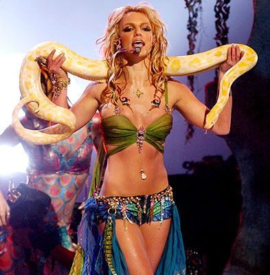 britney spears and snake. and this.